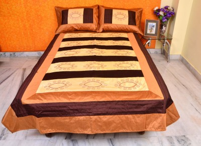 Luxurious Home Silk Embroidered Single Bedsheet