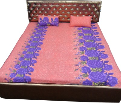 Bedsheetzone Cotton Floral Double Bedsheet