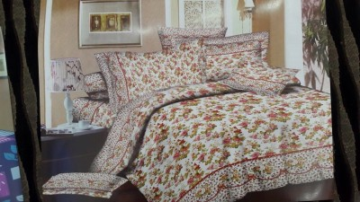 Ruhi Home Furnishing Polycotton Abstract Queen sized Double Bedsheet