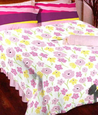 Arto Cotton Floral King sized Double Bedsheet