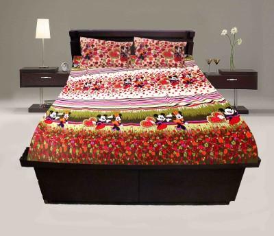 Krishnam Cotton Floral Double Bedsheet