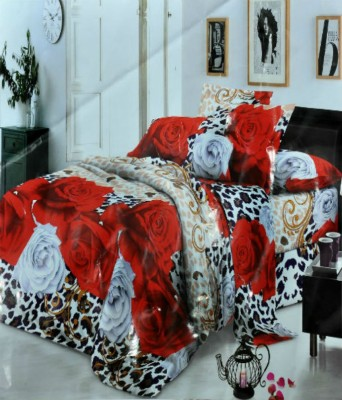 countingbeds Polycotton Floral Double Bedsheet