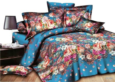 RKPRODUCT Cotton Floral Double Bedsheet