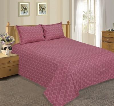 Salona Bichona Satin Plain Double Bedsheet