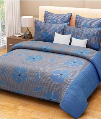 The American Line House Cotton Floral Double Bedsheet