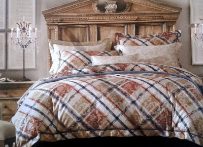 Spade Cotton Checkered King sized Double Bedsheet