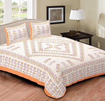 R D Traditionals Cotton Floral Double Bedsheet