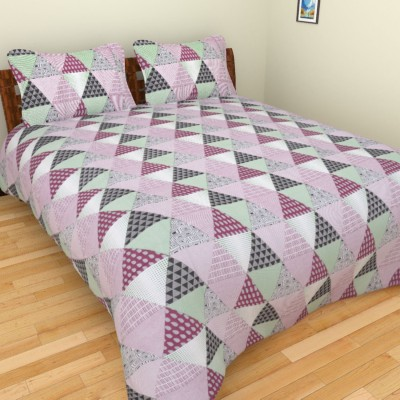 Bhavy Cotton Abstract Double Bedsheet