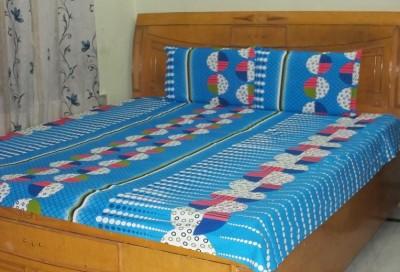 Shri Creation Cotton Abstract Double Bedsheet