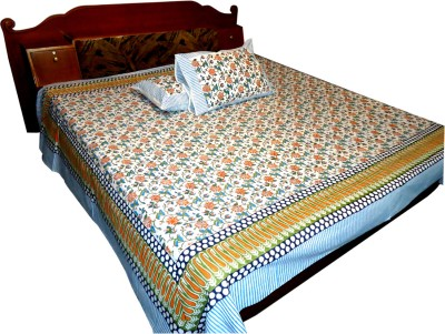 Jaipur Art and Craft Cotton Abstract King sized Double Bedsheet