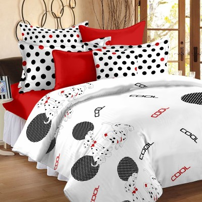 Story @ Home Satin, Cotton Abstract Double Bedsheet