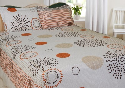 Splash Satin Printed Double Bedsheet