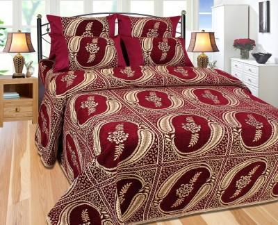 The Intellect Bazaar Chennile Abstract Double Bedsheet