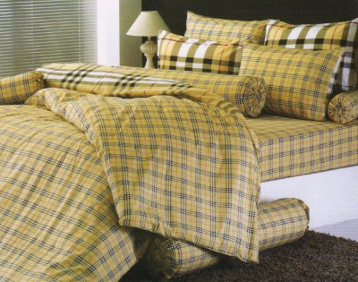 Toto Cotton Checkered Double Bedsheet