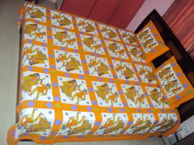 Vivid Rajasthan Cotton Abstract King sized Double Bedsheet