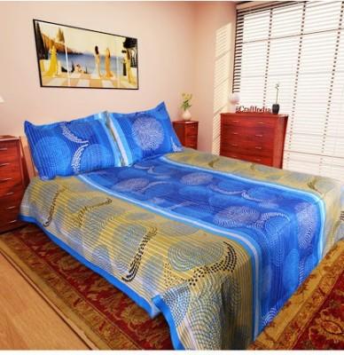 Husna Collectios Cotton Abstract Double Bedsheet