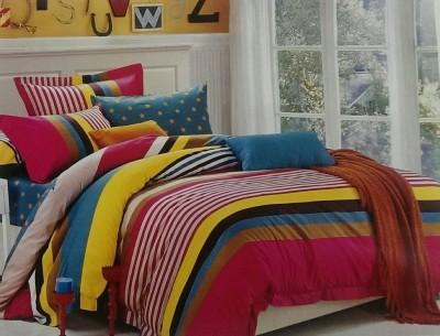 Vibha Creations Cotton Striped Double Bedsheet