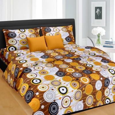Cortina Cotton Geometric Double Bedsheet