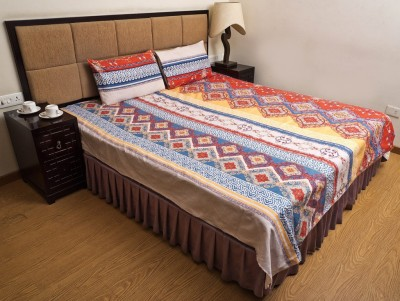 Tradition India Polyester Floral Double Bedsheet