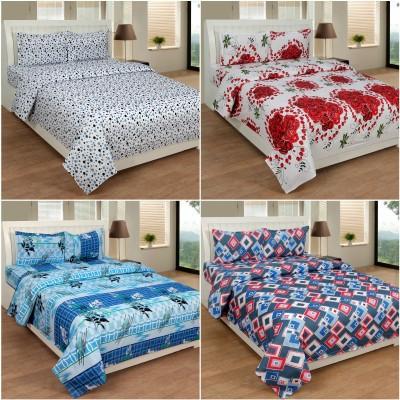 Slick Cotton Floral Double Bedsheet