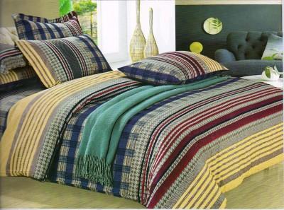 Sanaya Cotton Geometric Double Bedsheet