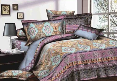 Royal Handloom Cotton Abstract Double Bedsheet