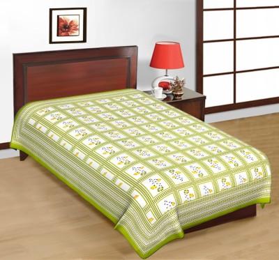 Sudharaj Cotton Printed Single Bedsheet