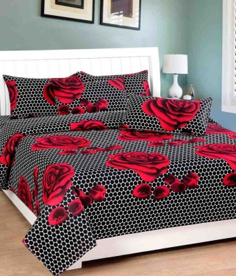 Pasricha Handlooms Cotton Floral Double Bedsheet