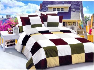 Queensland Cotton Checkered Double Bedsheet