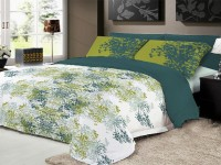 Ryancasa Cotton Printed Double Bedsheet(1 bed sheet & 2 pillow covers, Green)