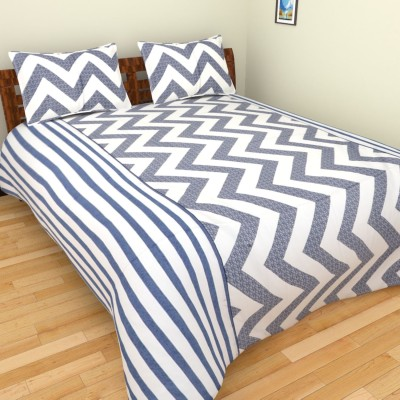 The Handloom Store Cotton Striped Double Bedsheet