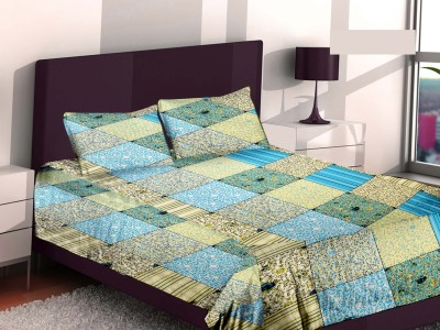 Bedsheet Zone Cotton Abstract Queen sized Double Bedsheet