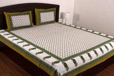 Ayushi Craft & Fashions Cotton Floral Double Bedsheet