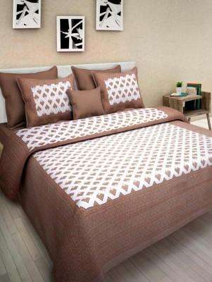 Jaipur Printex Cotton 3D Printed Double Bedsheet