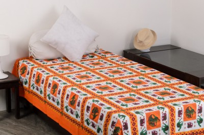 Vivid Rajasthan Cotton Animal Single Bedsheet