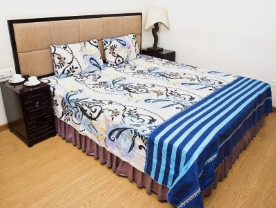 Halowishes Polyester Printed Double Bedsheet