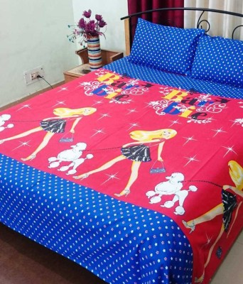 Balaji Texo Fab Cotton Cartoon Double Bedsheet