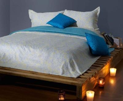 Stoa Paris Cotton Abstract King sized Double Bedsheet