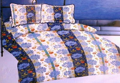 BHATIA HOME DEOR Cotton Floral Double Bedsheet