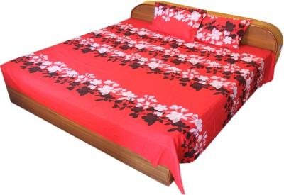 BHATIA HOME DECOR Cotton Floral Double Bedsheet