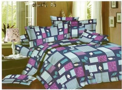 Ruhi Home Furnishing Polycotton Checkered Double Bedsheet