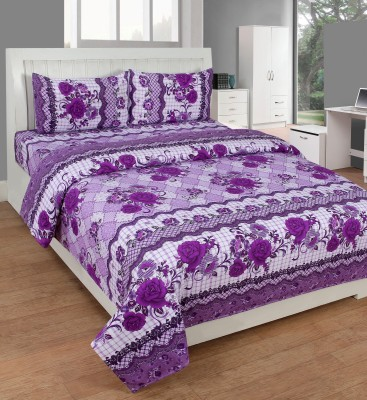 SHREEJEE Polycotton Floral Double Bedsheet