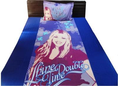 Amk Home Decor Cotton Cartoon Single Bedsheet
