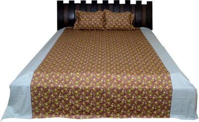 Nathi and Nancy Cotton Abstract King sized Double Bedsheet
