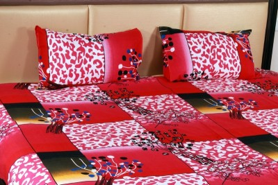 Aarav Collection Cotton Abstract Double Bedsheet