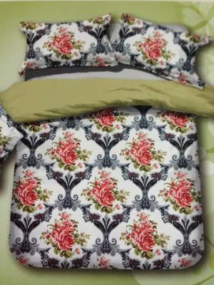 Tima Polycotton Floral Double Bedsheet