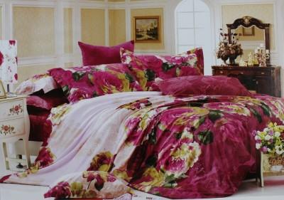 Rose Petal Cotton Floral King sized Double Bedsheet