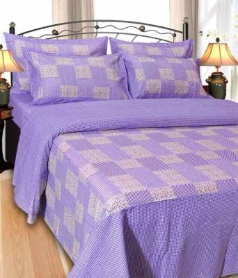 Aashiyana Sajona Cotton Checkered Double Bedsheet