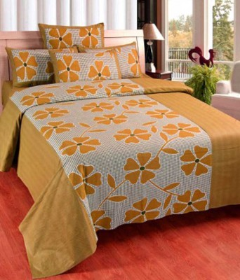 Musk Duck Cotton Abstract Double Bedsheet