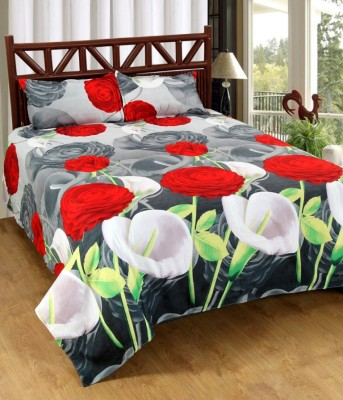GBL COLLECTION Polyester Floral Double Bedsheet